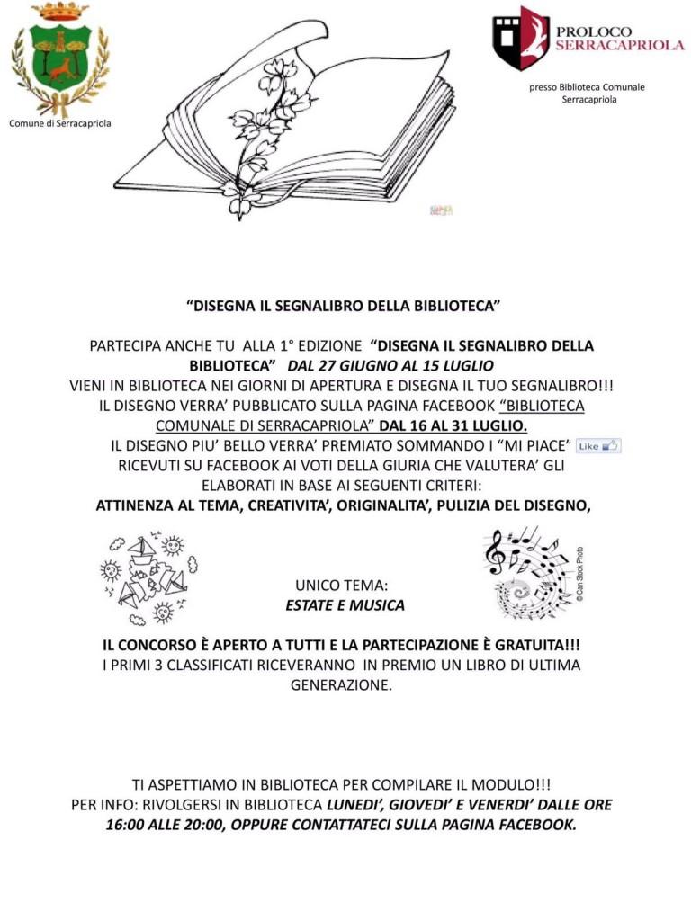 Serracapriola - Disegna il segnalibro 30062016