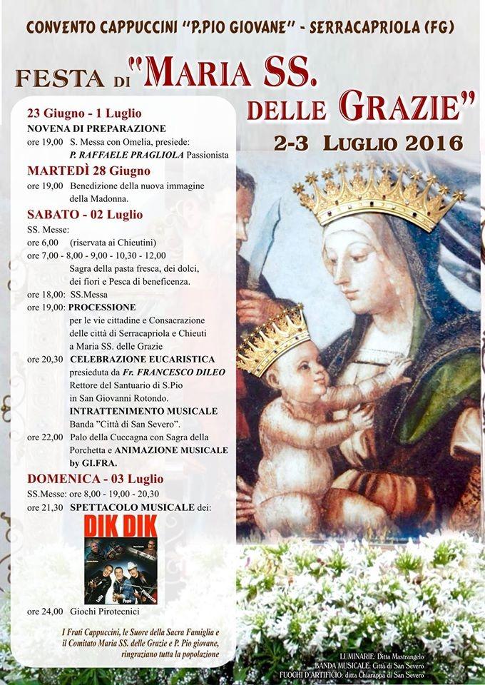 Serracapriola - Festa Maria SS. delle Grazie 30062016